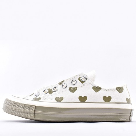 Converse Chuck Taylor All Star Heart Print Magenta Glow and White