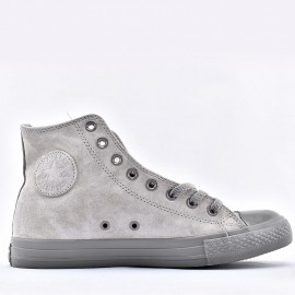 Converse Chuck Taylor All Star Hi Mercury Gray Suede Sneakers