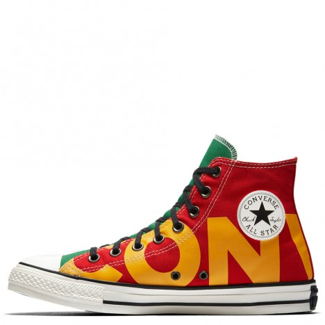 Converse Chuck Taylor All Star High Iconic Red Green Yellow Shoes