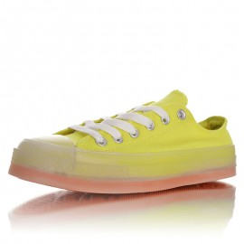 Converse Chuck Taylor All Star Translucent Yellow Color Midsole Low Top Sneaker