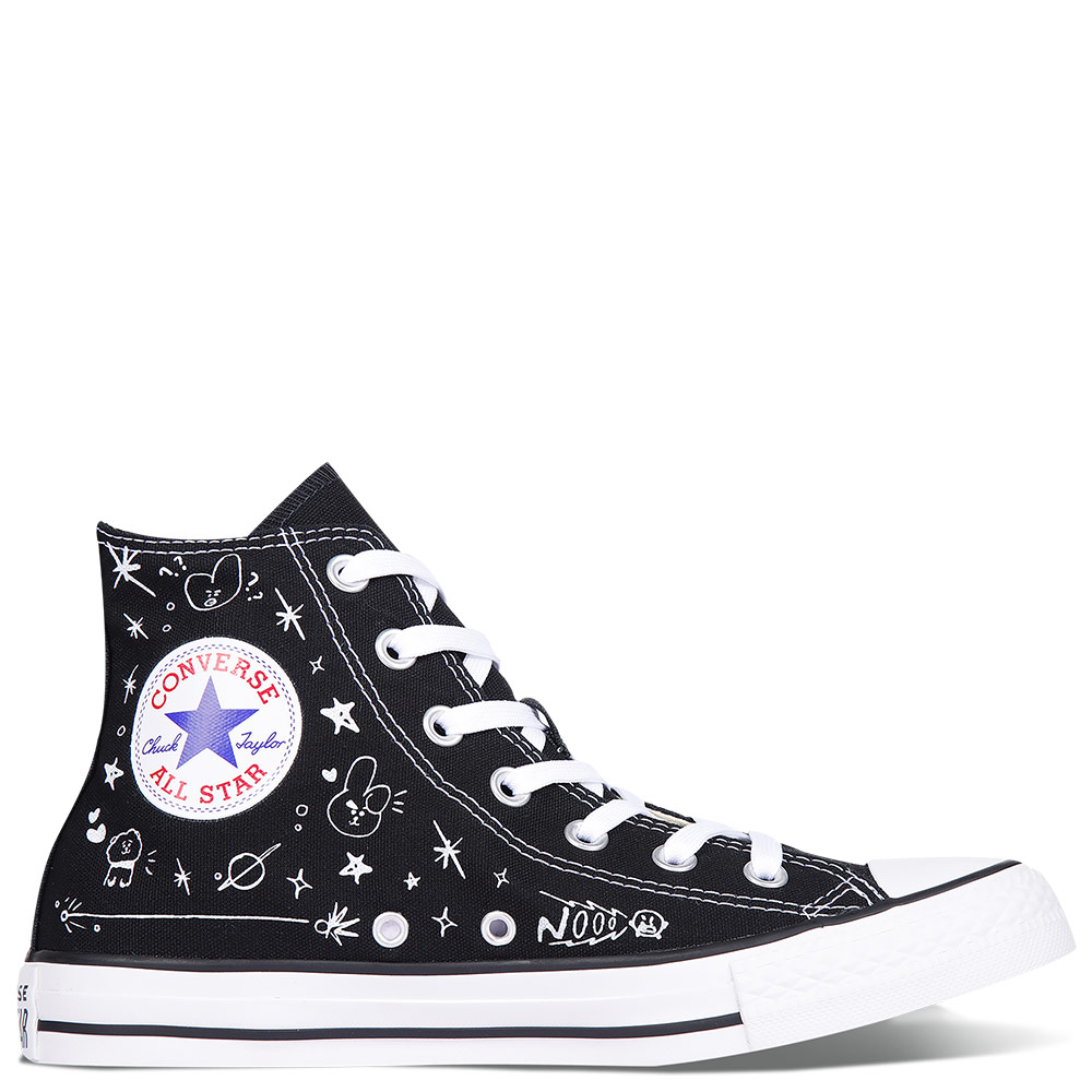 606bbbe2e7a601 Converse Chuck Taylor All Star x BT21 Black High Tops Shoes