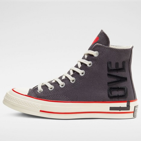 Converse Chuck Taylor All star 1970 High Love Fearlessly Grey