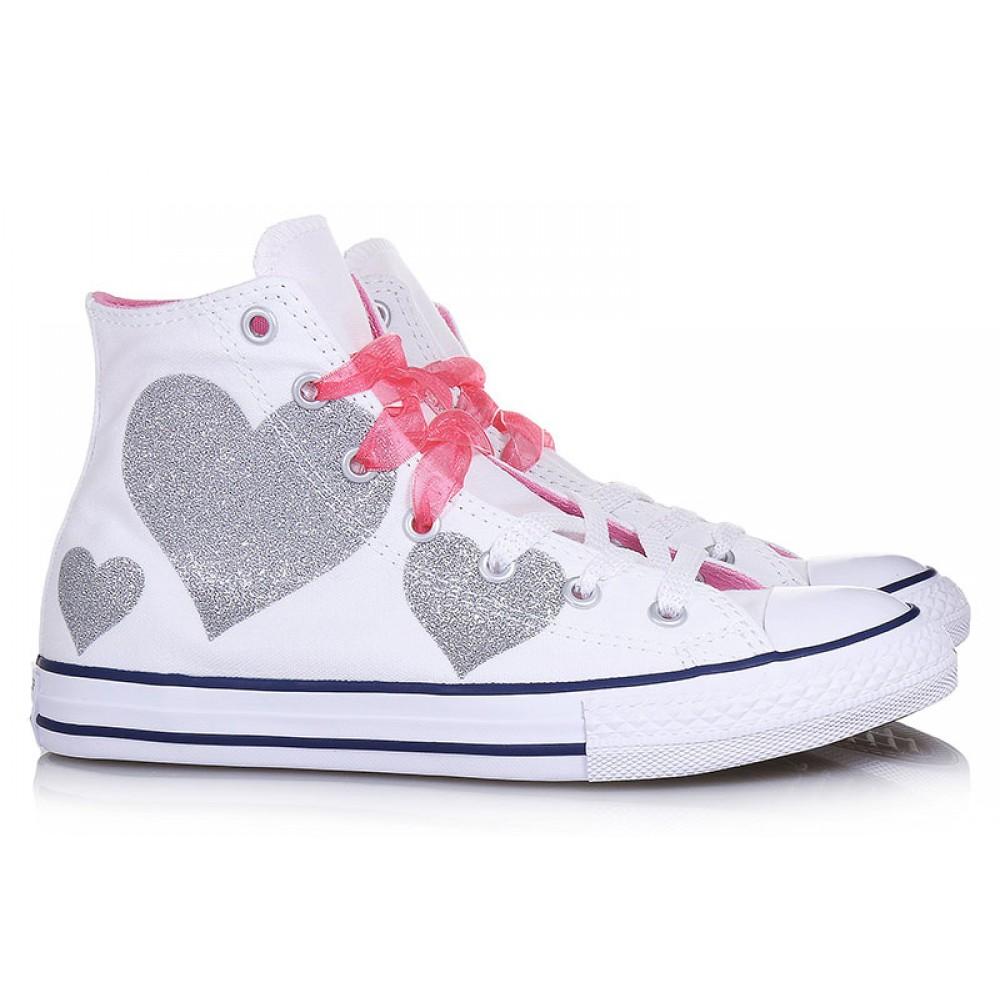 Converse Girls' Chuck Taylor CTAS Lift Hi Low Top Sneakers
