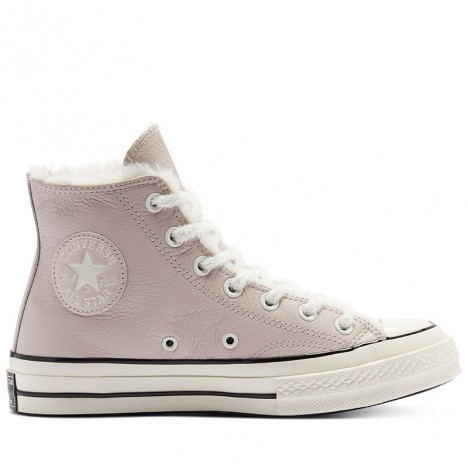 Converse Cozy Club Chuck 70 Warm Lining Leather Brown High Tops