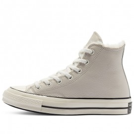 Converse Cozy Club Chuck 70 Warm Lining Leather Grey High Tops