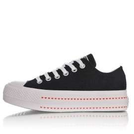 Converse Ctas Lift Ox Platform Hearts Womens Shoes