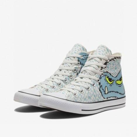 Converse Cute Snow Man Chuck Taylor High Tops Shoes