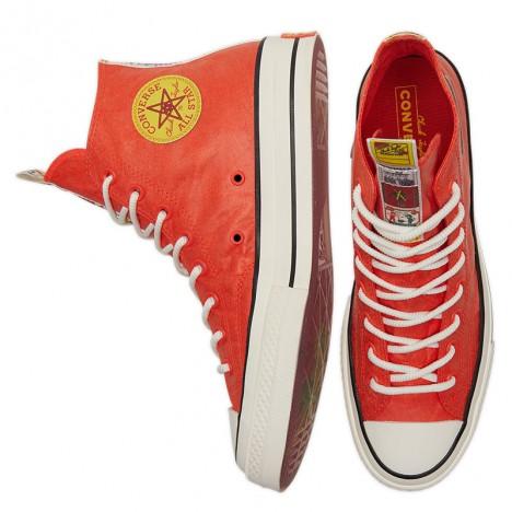 Converse Firecracker Orange High Tops Shoes