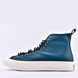 Converse Fleece-Lined Leather Chuck 70 All Star Blue High Top