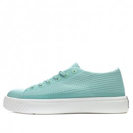Converse Lady Summer Hollow carved Design Breathe Freely Oyster Green Canvas Low Top