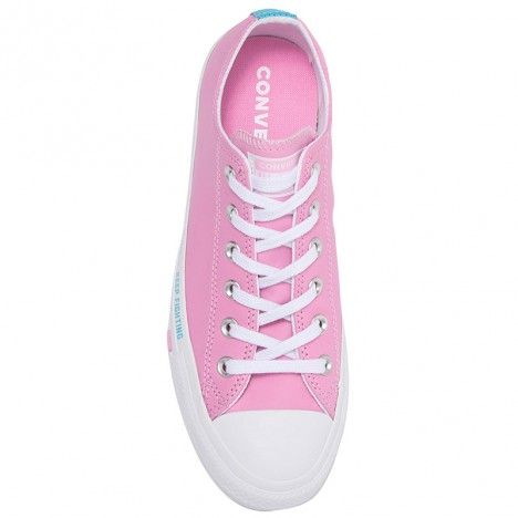 Converse Love Graphic All Star Oxford Leather Sneaker Pink