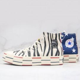 Converse Mens x Chuck 70 Hi Brain Dead Stars Camo Zebra Print Sneakers