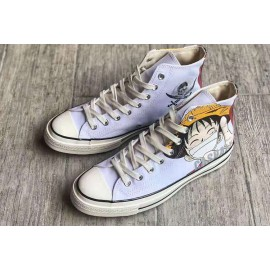 Converse One Piece Monkey D Luffy Pirate High Tops Shoes
