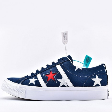 Converse One Star Academy Archive Prints Low Top Blue Suede