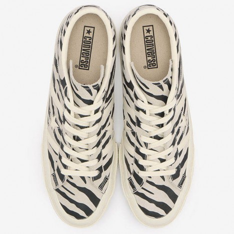 Converse One Star Academy Jack Star Bars Zebra Suede Low Top
