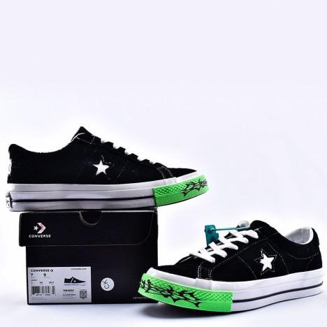 Converse One Star Ox Sad Boys Yung Lean Black Suede