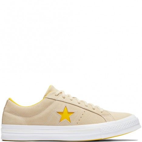 Converse One Star Pinstripe Vanilla Solar Power Shoes