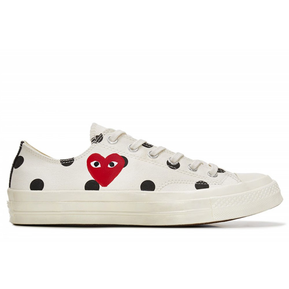Converse 1970s comme des garcons polka dot play black low