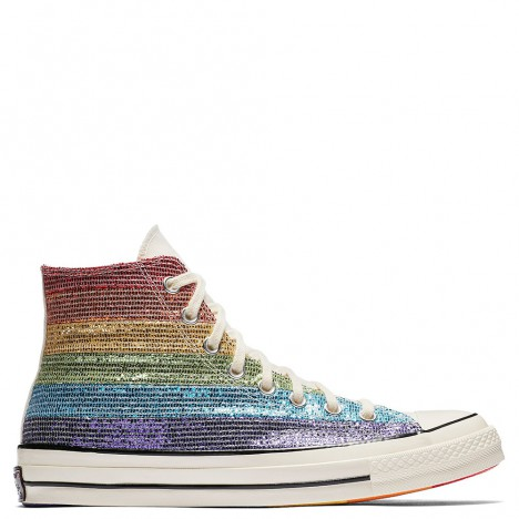 Converse Pride x Miley Cyrus 70 Rainbow Glitter High Tops