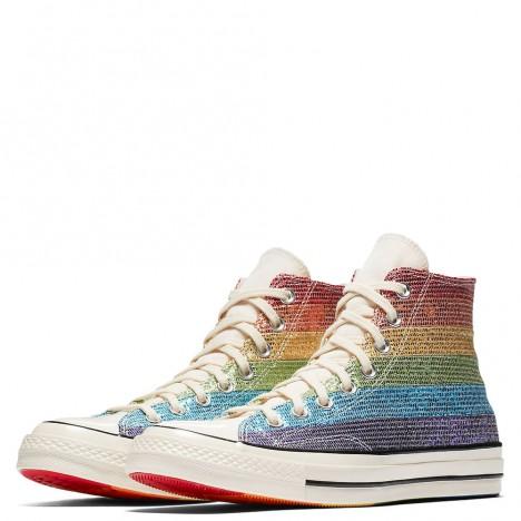 Converse Pride x Miley Cyrus 70 Rainbow Glitter High Tops