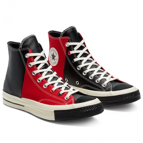 Converse Restructured Chuck 1970 Rivals High Top Red Black Leather