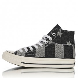 Converse Stars and Stripes Chuck Taylor All Star 1970s High Black