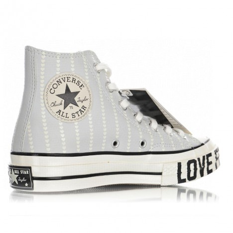 Converse Womens Love Fearlessly Chuck 70 High Top Grey