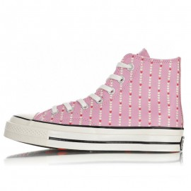 Converse Womens Pink Love Fearlessly Chuck 70 High Tops