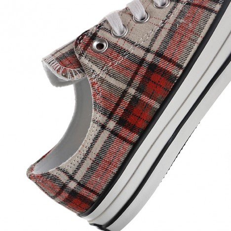 Converse WoolCheck Plaid All Star Low Tos Shoes