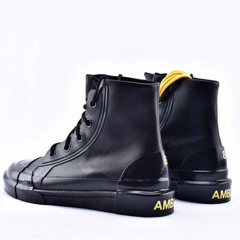 Converse x Ambush High Top Black Leather Sneakers