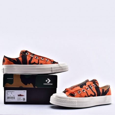 Converse x Carhartt WIP Chuck 70 Ox Camo Orange Low Top