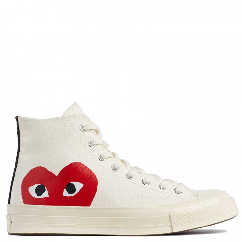 Converse x Comme Des Garcons PLAY All Star Chuck 70 High White
