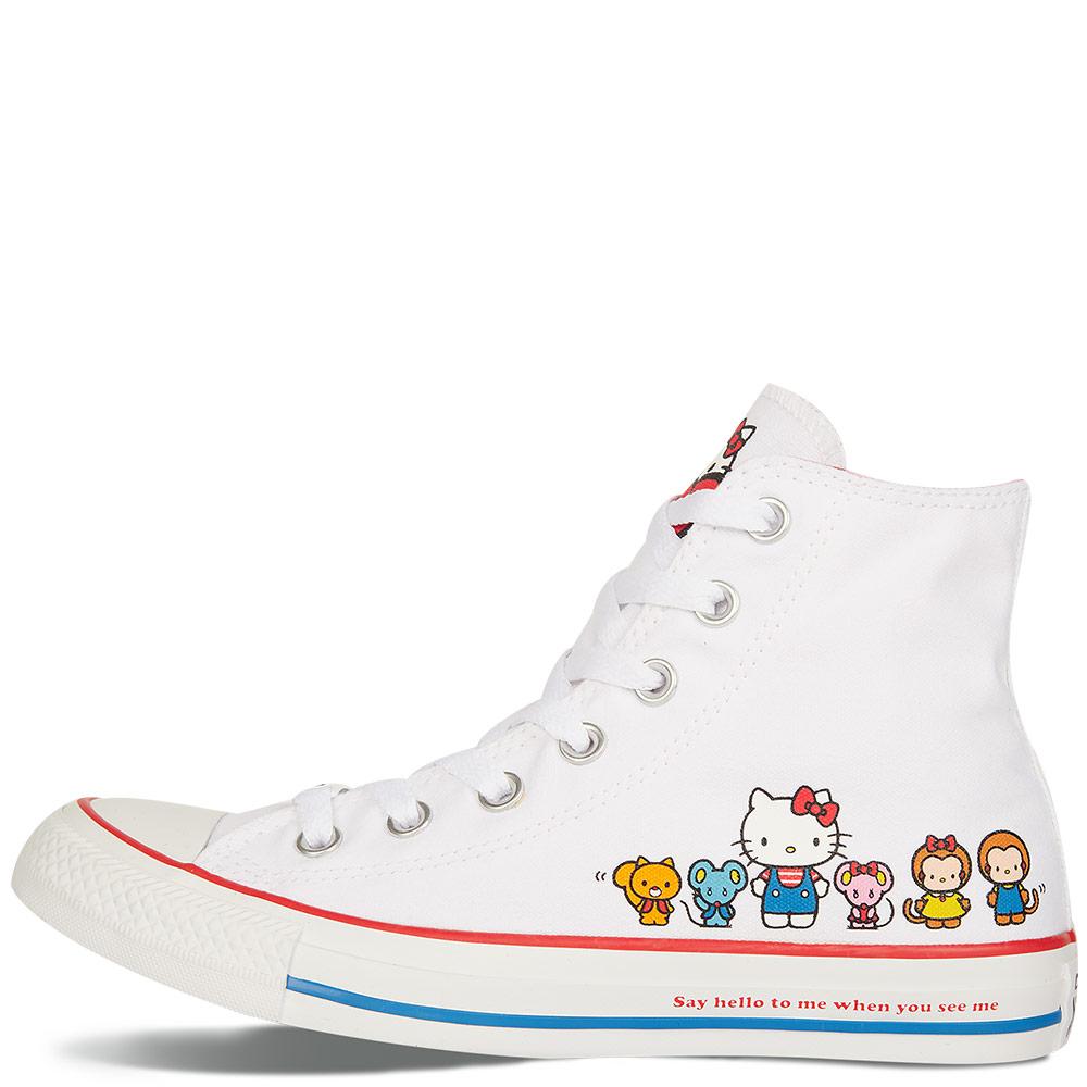 f55fcd79324716 Converse x Hello Kitty Chuck Taylor All Star White High Top