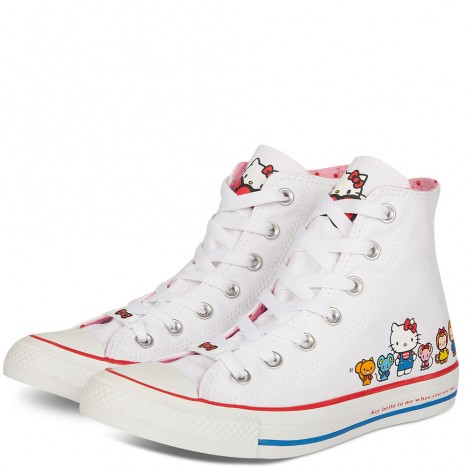 Converse x Hello Kitty Chuck Taylor All Star White High Top