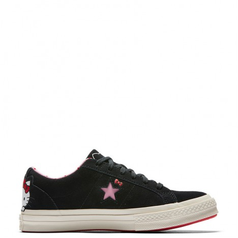 Converse x Hello Kitty One Star Low Top Black Womens Shoes
