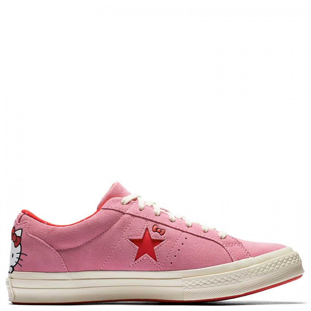 Converse x Hello Kitty One Star Low Top Pink Womens Shoes 48fbf7561