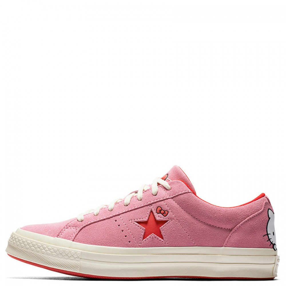 Converse x Hello Kitty One Star Low Top Pink Womens Shoes