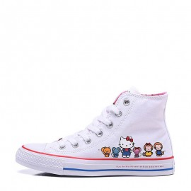 Converse x Hello Kitty White High Tops