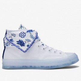 Converse x Lay Zhang China Blue and White Porcelain High Tops Shoes