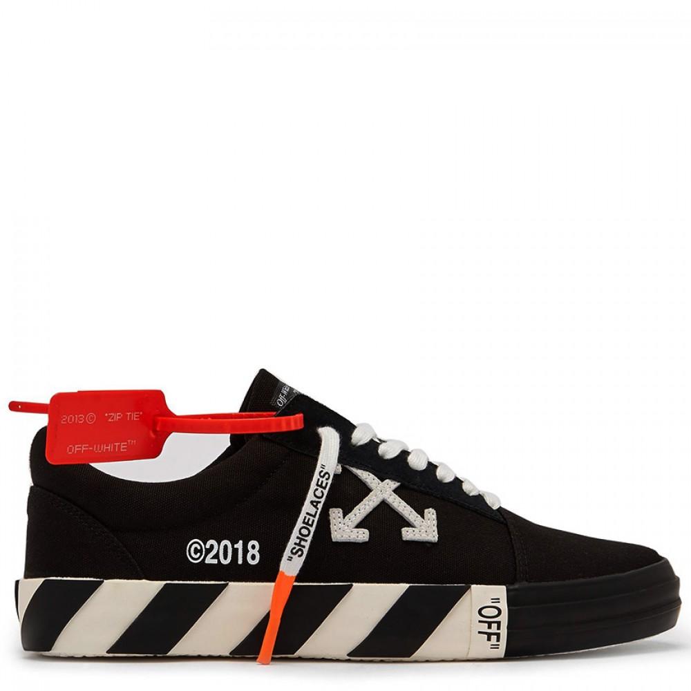 a5a1ff73373b Converse x Off-White Virgil Abloh Vulc Black Low Tops