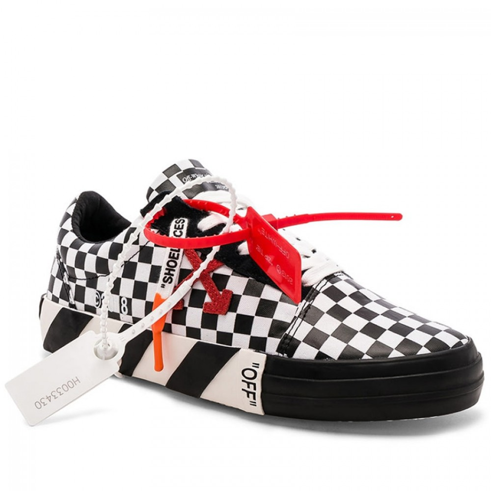 Converse x Off White Virgil Abloh Vulc Checkerboard Low Tops