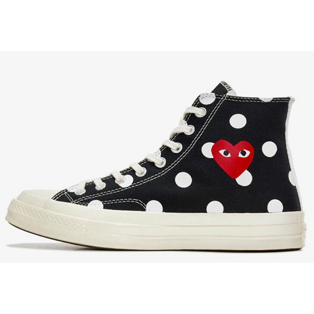Converse x Play CDG Converse Polka Dot Red Heart All Star ...