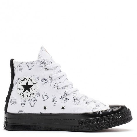 Converse x Shrimps Black White High Tops