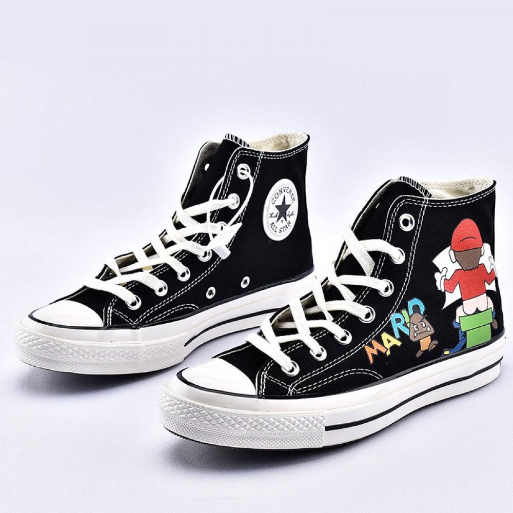 Super Mario Converse Shoes: Super Mario Bros Converse High Tops