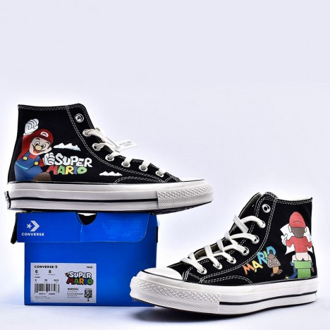 Converse x Super Mario Bros Chuck Taylor High Top Black
