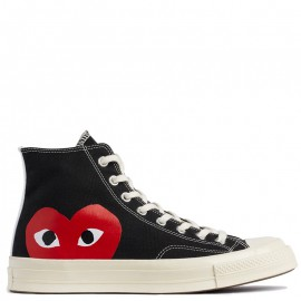 Garcons Play x Converse Chuck Taylor All Star 70 High Top Black