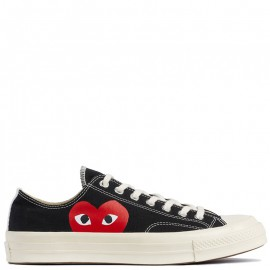 Garcons Play x Converse Chuck Taylor All Star 70 Low Top Black
