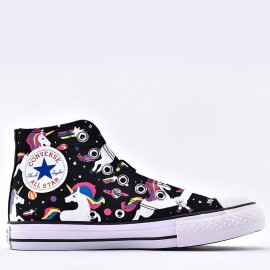 Girls Converse Chuck Taylor All Star Unicorn Rainbow High Top Shoes