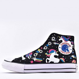 Girls Converse Chuck Taylor All Star Unicorn Rainbow High Top Shoes