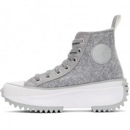 Grey Suede Run Star Hike High Top Sneakers